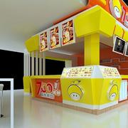 黄色靓丽奶茶店