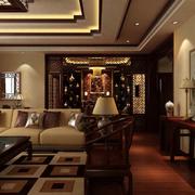 中式庄重的客厅展示