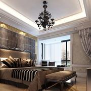 别墅咖啡色卧室设计