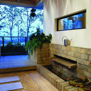 别墅现代化的入户花园