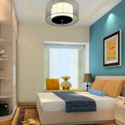 公寓卧室蓝色背景墙