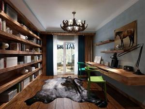 30平米都市混搭风格小书房装修效果图