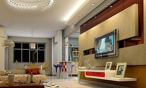 90平米精装简欧电视背景墙效果图