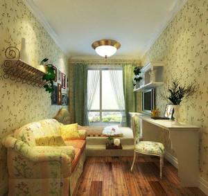 田园风格的客厅地台