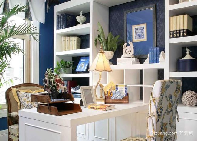 唯美动人的地中海风格书房设计装修图片大全