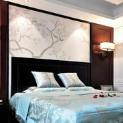 卧室中式风格背景墙