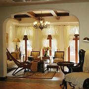 美式混搭客厅装潢