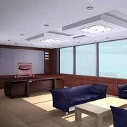 办公室白色简约吊顶