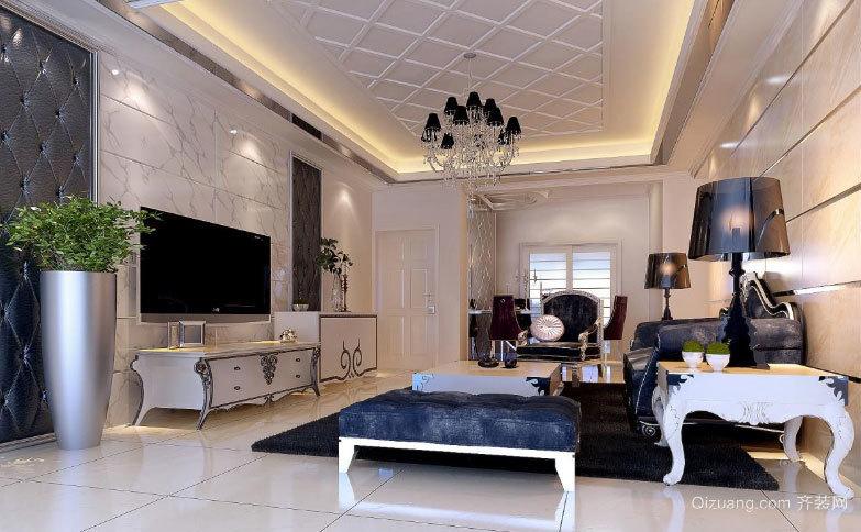2015全新欧式精美奢华的客厅电视背景墙装修图