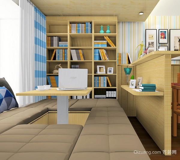 20平米实用美观书房榻榻米装修效果图
