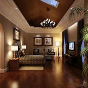 美式自然风格卧室