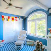 小户型蓝色儿童床