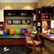 书房红木的书柜