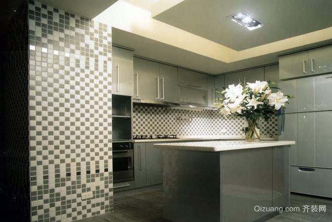 30平米经典日式风格淡雅设计厨房装修效果图