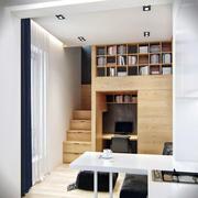 客厅个性实木置物架