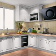 厨房转角不锈钢橱柜