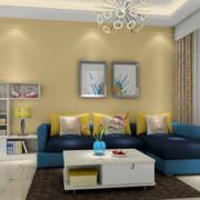 客厅黄色温馨背景墙