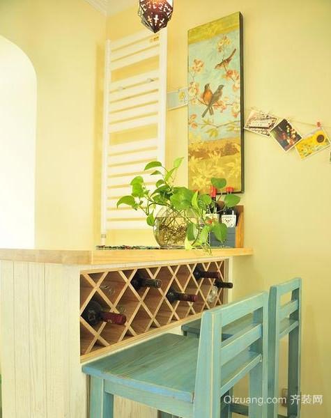 小家碧玉般的地中海风格吧台设计装修图片大全