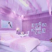 粉紫色的婚房卧室