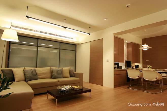 100平米中年人超爱的日式经典朴实客厅装修效果图