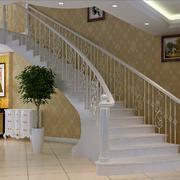 白色简约楼梯图