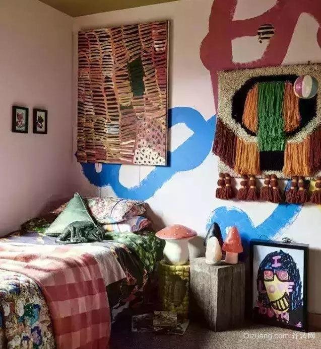 两室一厅个性都市混搭时尚卧室装修效果图