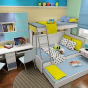 三室两厅卧室高低床展示