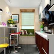 家居小厨房吧台