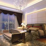 120平米现代化的卧室