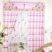 飘窗粉色系的窗帘