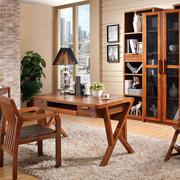 中式书房实木书柜