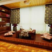 中式风格的地台展示