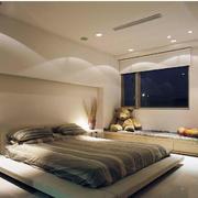 卧室简约白色吊顶