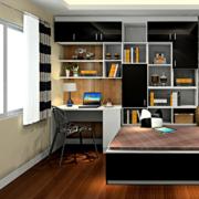 书房榻榻米整体书柜