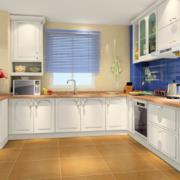 厨房黄色地板欣赏