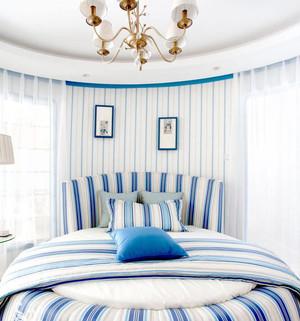 榻榻米白蓝色卧室