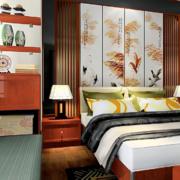 新中式卧室飘窗