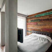 卧室独特背景墙展示