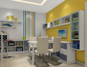 具有超强容纳空间的装饰柜客餐厅装修效果图