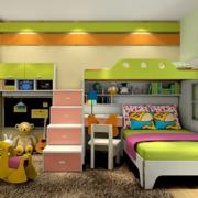 儿童房双层床楼梯