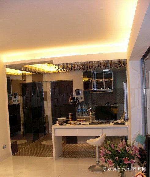 90平米舒适的欧式客厅吧台装修效果图大全