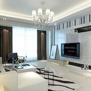 白色精致的电视墙