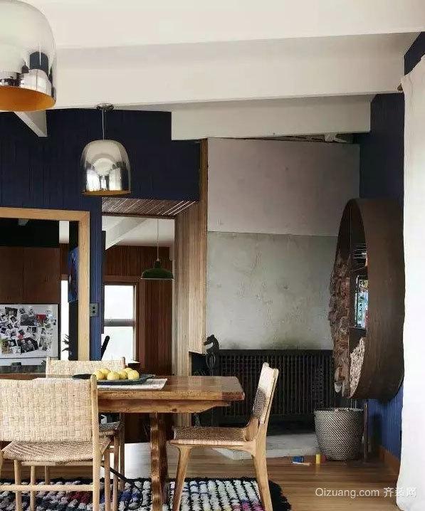 30平米都市混搭风格家庭厨房餐厅装修效果图