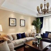 单身公寓客厅展示