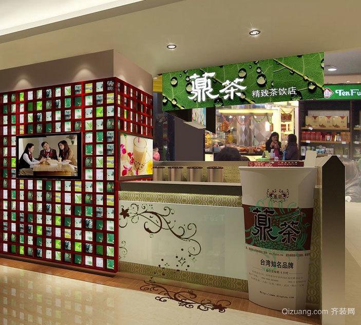 2015蜜意绵绵的都市奶茶店装修效果图