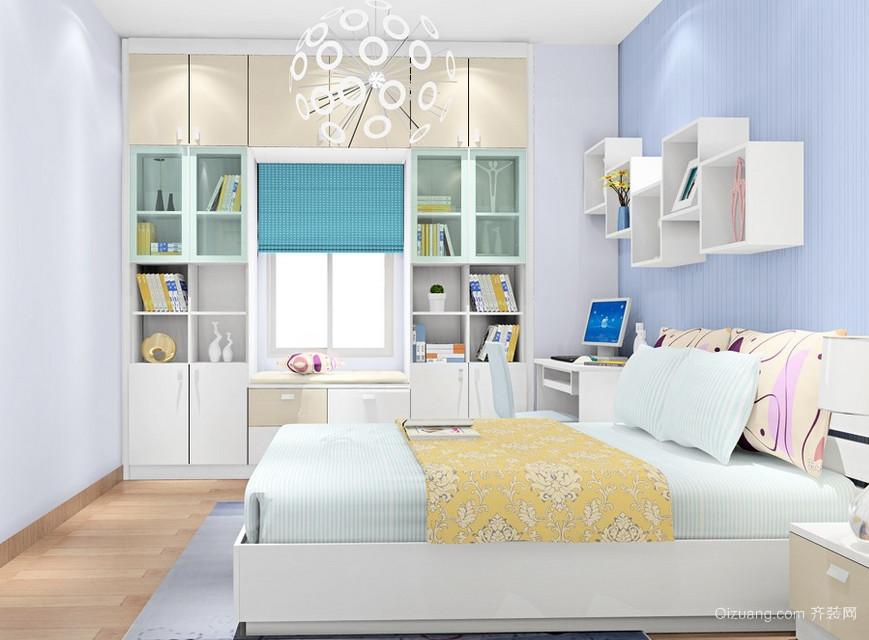 价格便宜的新实用主义小户型卧室装饰柜装修效果图