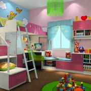 儿童房收纳柜设置