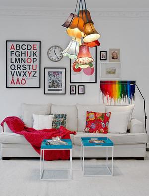客厅时尚照片墙