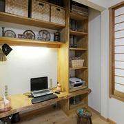 书房实木书柜装潢