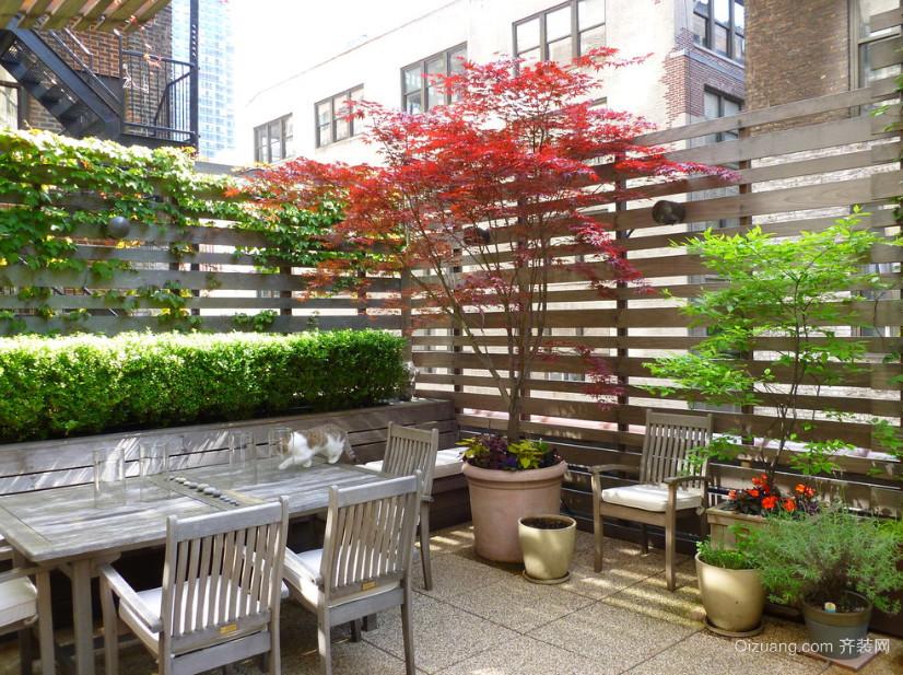 环境宜人露台花园设计装修效果图